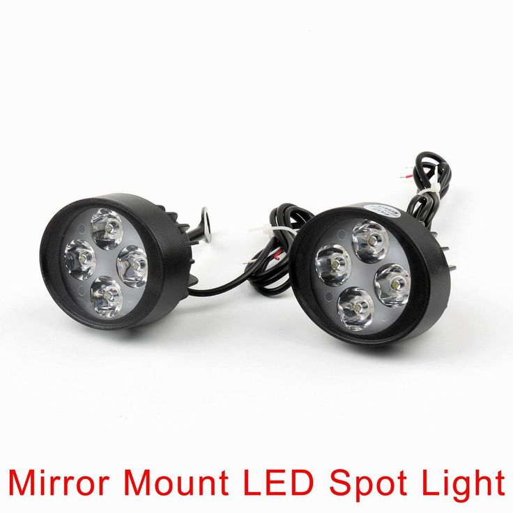 Mad Hornets - 4 LED Motorcycle Mirror Mount LED Driving Fog Spot Light Spotlight Harley, $34.99 (http://www.madhornets.com/4-led-motorcycle-mirror-mount-led-driving-fog-spot-light-spotlight-harley/)