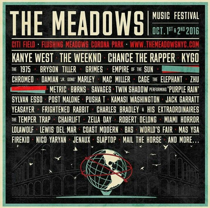 Brand new festival taking place in Queens, New York this October! Welcome The Meadows Music Festival