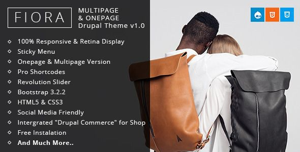 Fiora - Multipage & Onepage Drupal theme