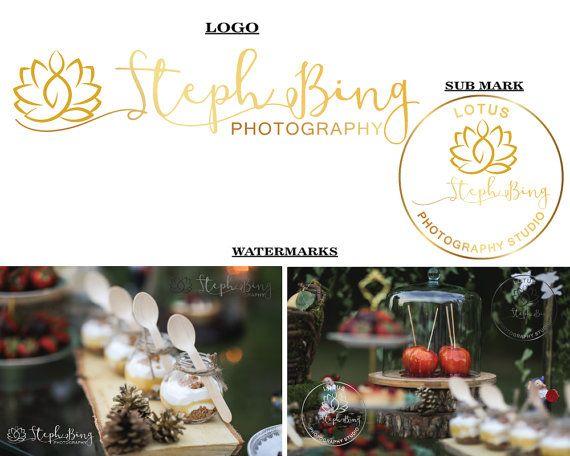 Wedding photography logo Lotus logo design by LoveArtsStudio