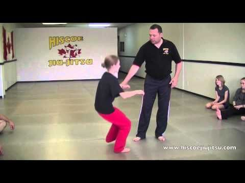 Self Defense for Kids - Escape and adult grabbing you by the wrist - Hiscoe Jiu-Jitsu - YouTube
