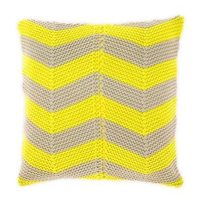 Chevron cushion in Bright Yellow #aurahome