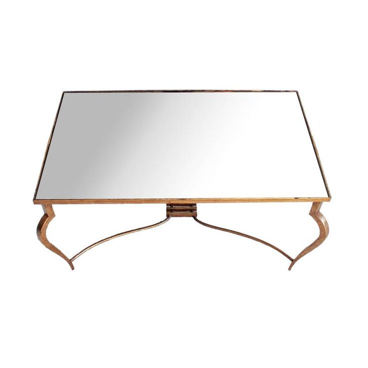 René Prou Fantastic Mirror Coffee Table, circa 1940 | From a unique collection of antique and modern coffee and cocktail tables at https://www.1stdibs.com/furniture/tables/coffee-tables-cocktail-tables/