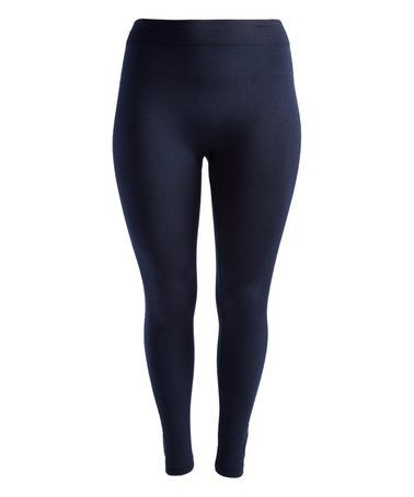 This Navy Blue Fleece-Lined Leggings is perfect! #zulilyfinds