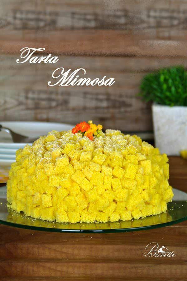 Torta Mimosa con crema Madame