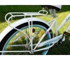 "J Bikes Universal 26\"" Bicycle Steel Rear Rack, White"