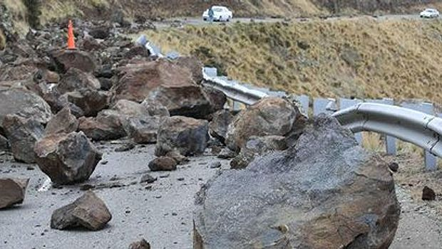 Port Hills earthquake rock fall