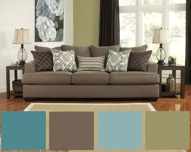 Love our Corley Slate sofa? Get this look by accenting this sofa with ...