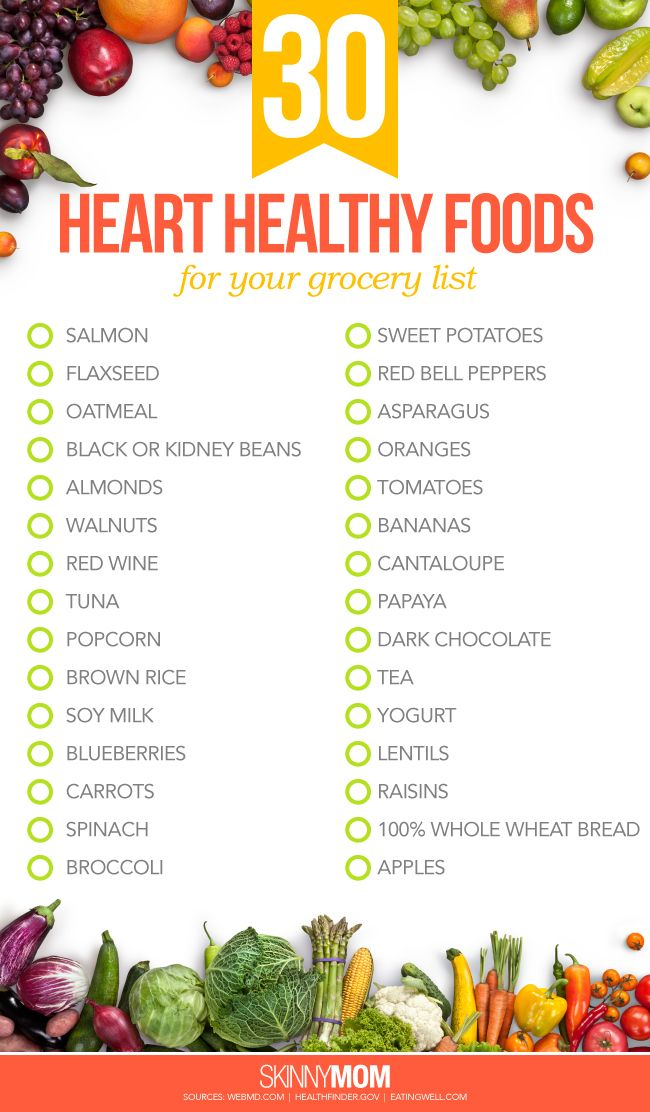 30 Heart Healthy Foods For Your Grocery List