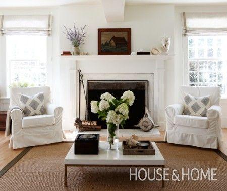All white living room designer deb nelson photo janet for All white living room