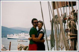 Amore e Zaca ... io e manuela, mia moglie, quando veniva a trovarmi nei porti d'attracco...Carlo's Lifestyle
