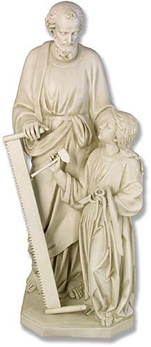 Finally found what I remembered - St. Joseph with a two-man saw