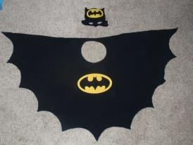 Batman cape and hat / mask