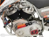 The mammoth Open class Peterson hillclimber cranks out 218 hp from its 2500cc Harley-Davidson mill.
