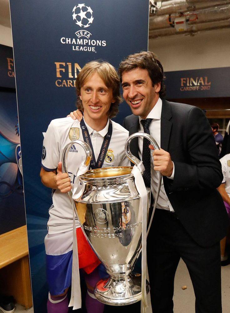 Modric & Raul Real Madrid Champions League 12 duodecima Cardiff 2017