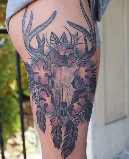 Deer Skull Tattoos Designs Ideas and Meaning   Tattoos For You