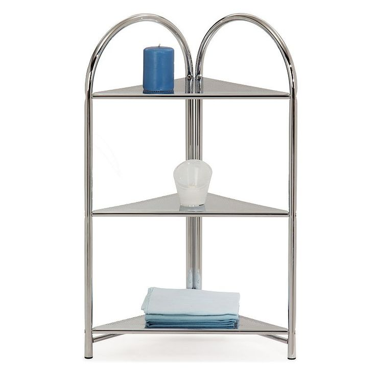 Leick Furniture Arched Etagere 3Shelf Corner Storage