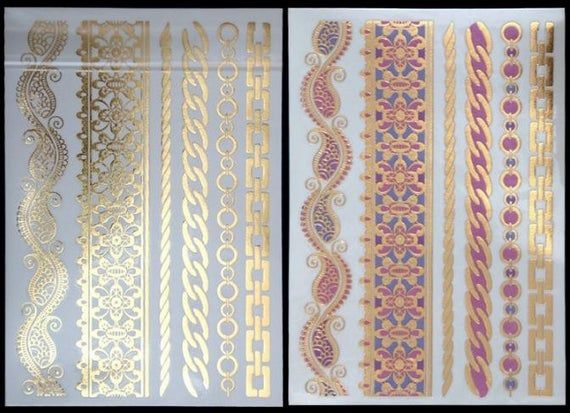 Color Changing Metallic Flash Tattoo Style 27 Etsy In 2020 Flash Tattoo Tattoo Style Metal Tattoo