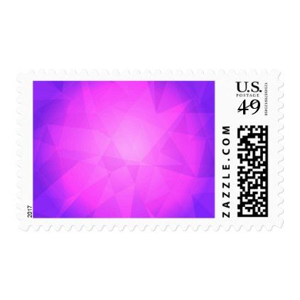 Abstract glow light purple triangle background postage - light gifts template style unique special diy