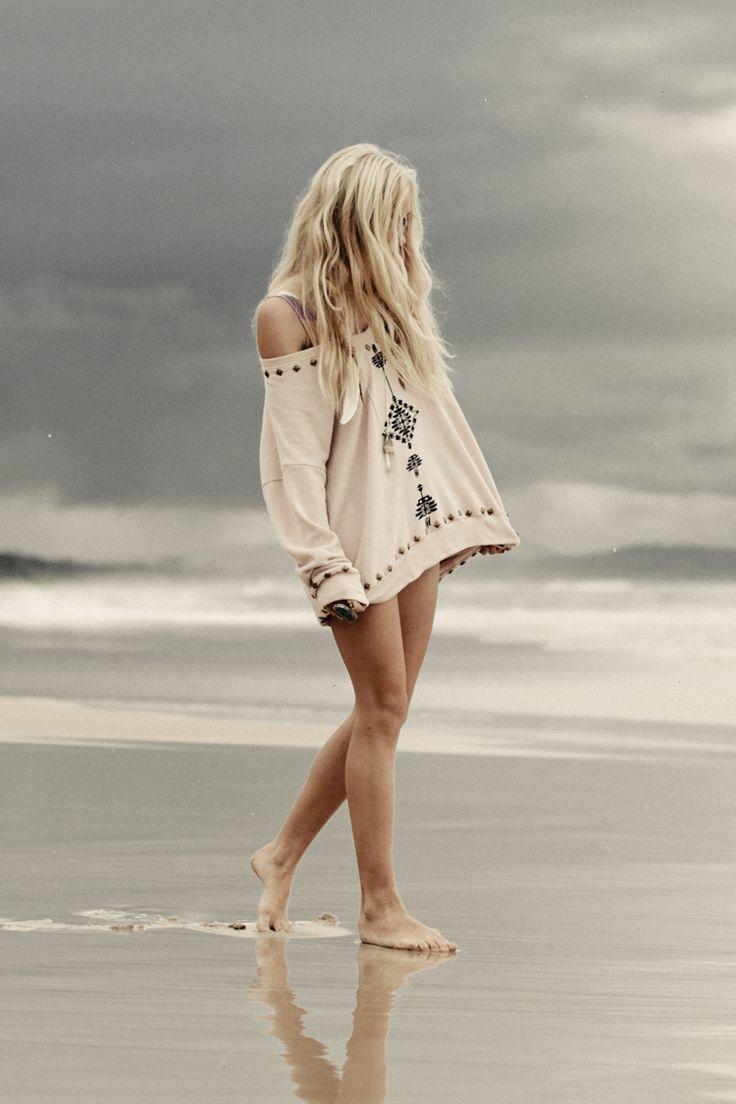 beach hair ..love that cover up!