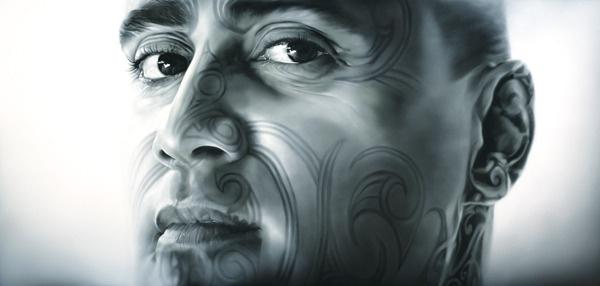 Tiki Taane, oil painting by Sofia Minson
