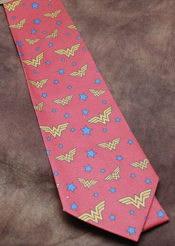 Vintish Wonder Woman neck tie by AbandonedWarehouse on Etsy