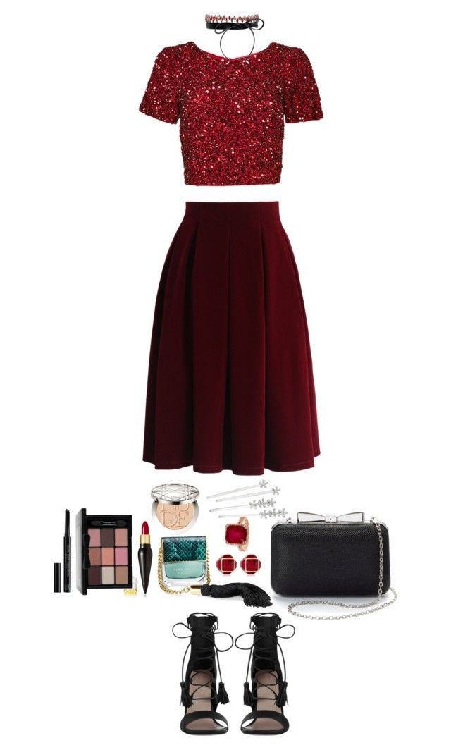 """Red On Red"" by angeleshiny on Polyvore featuring Chicwish, Parker, Zimmermann, La Regale, Fallon, Marc Jacobs, Christian Louboutin, Vita Fede, Christian Dior and Lauren Ralph Lauren"