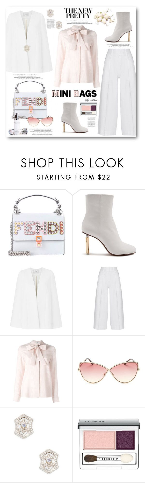 """So Cute: Mini Bags"" by jelenalazarevicpo ❤ liked on Polyvore featuring Fendi, Vetements, Amanda Wakeley, Diane Von Furstenberg, Vilshenko, Tom Ford, Effy Jewelry, Clinique and Natura Bissé"