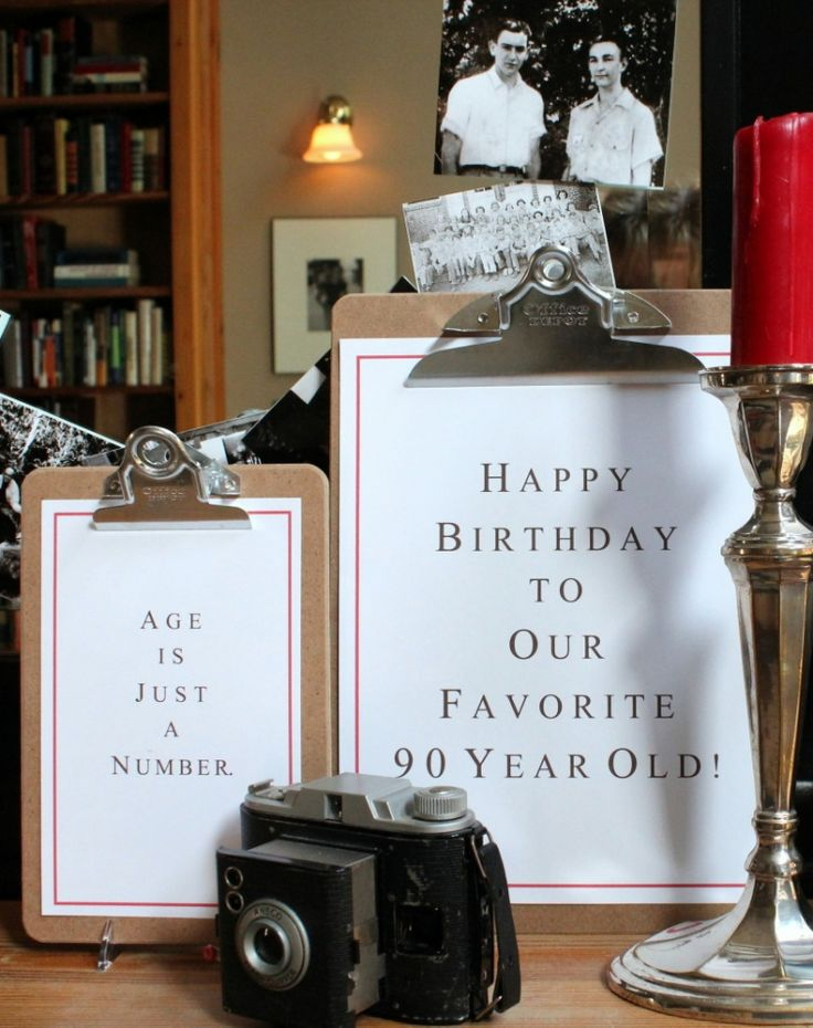 Favorite Things 90th Birthday party clipboards