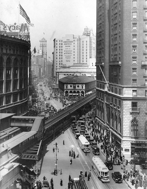 Then: Herald Square (1923) | Then Vs. Now: 1920s New York City