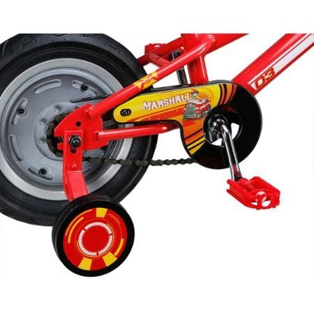 """Amazon.com : Paw Patrol Marshall 12"""" Boys Bike, Red, With Training Wheels and Coaster Brake For Beginners, Steel Frame, For Kids 2 - 4 Years, R0228WM : Sports & Outdoors"""