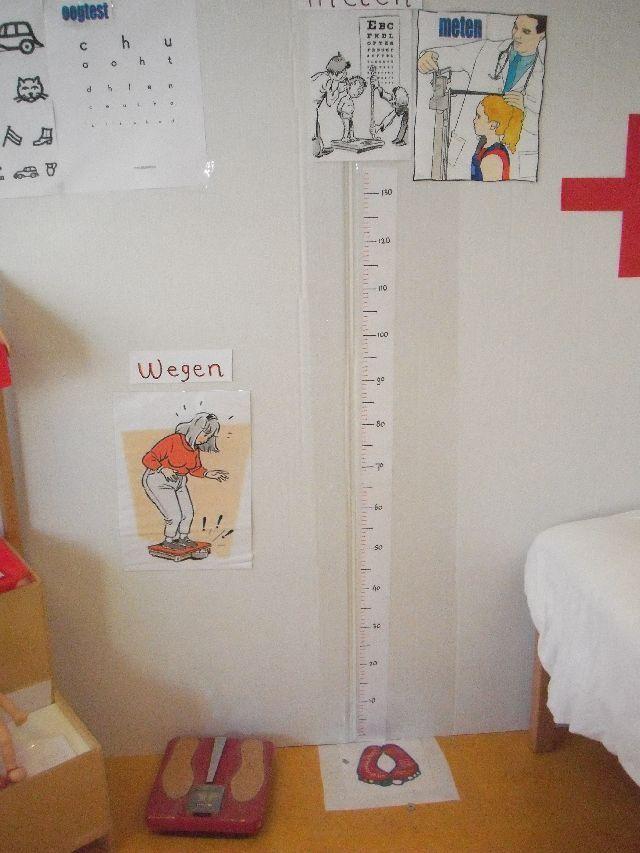 gewicht bepalen en lengte meten