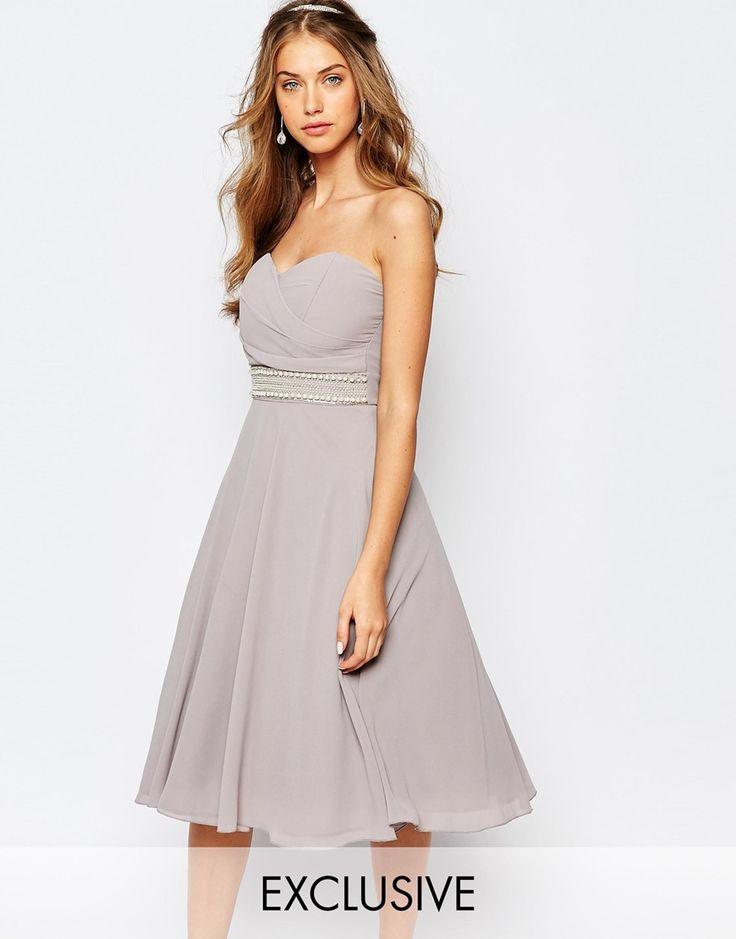 TFNC WEDDING Embellished Waist Prom Dress Like this a lot. Poss fave so far?
