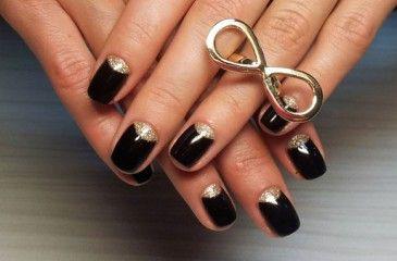Идеи маникюра в черном цвете - модные тенденции, технология нанесения на короткие или длинные ногти с видео