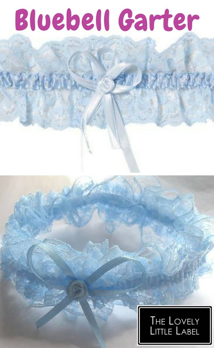 Something blue? Or a blushing bride? Pretty and oh-so-feminine, This lovely blue piece of lace is adorned with a blue satin panel and rosette