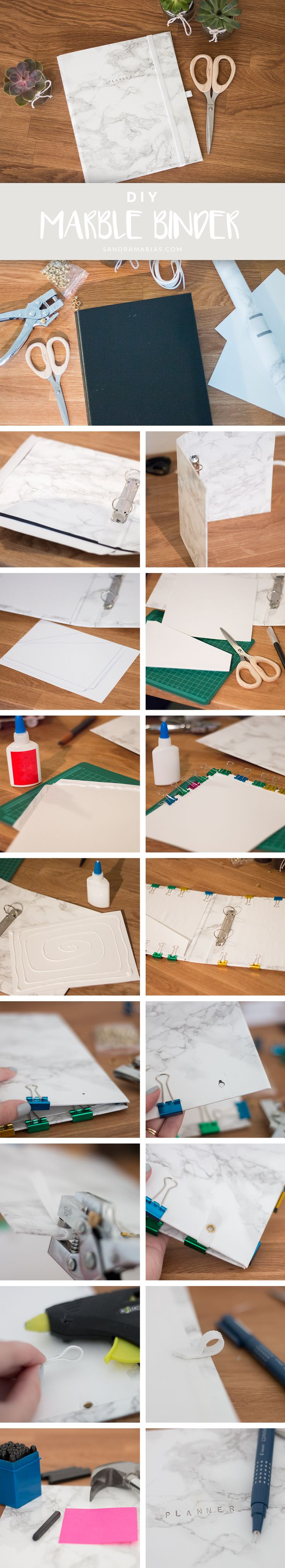 DIY Marble Binder | Make your own planner | Sandramarias.com