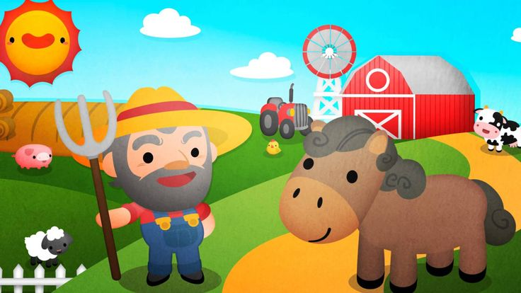 """Old MacDonald Had a Farm (also known as """"Old McDonald Had A Farm""""), is a well-known kids' song that is great for learning animal names and practicing animal sounds.  #kidsongs #preschool #video"""