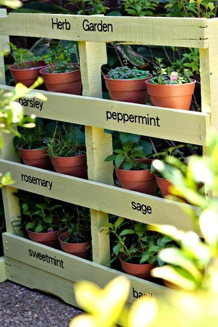 DIY Pallet Herb Garden !!