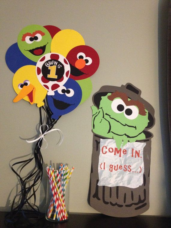 Sesame Street Wall or Door Sign- Oscar the Grouch