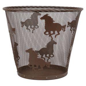 Metal Horse Waste Basket