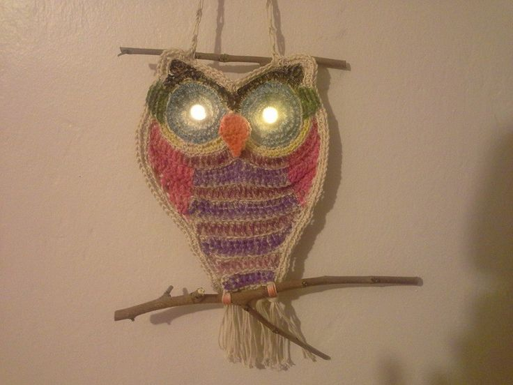 crocheted and hand dyed owl by me...