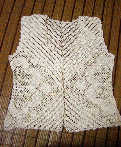 Blusa crocher