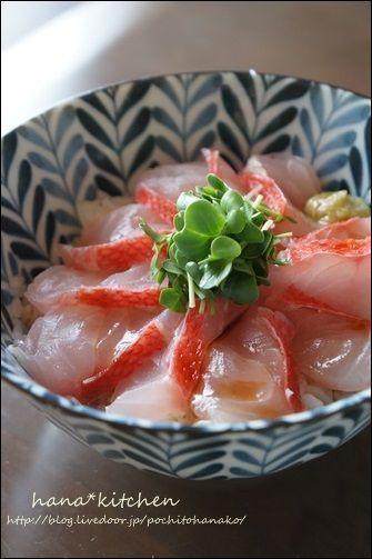 金目鯛の湯引きで、海鮮丼。<簡単レシピ> by はなこさん | レシピ ...