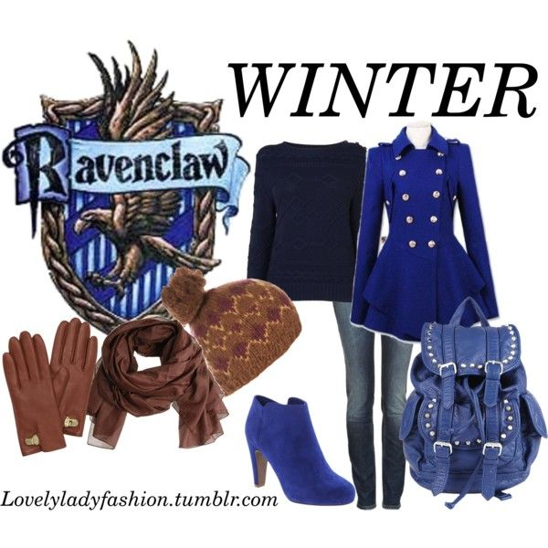 """""""Ravenclaw Seasons - Winter"""" by nearlysamantha on Polyvore"""