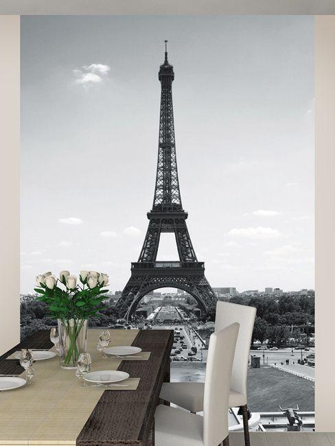 Paris Eiffel Tower Wall Mural 2.32m x 1.58m | Decor | Wallpaper