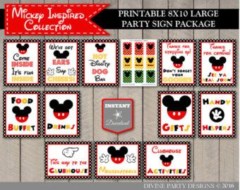 photograph relating to Free Printable Mickey Mouse Signs identify Prompt Obtain Printable Clic Mouse Superior 8x10 Indication