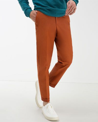 Bright shades for Spring from Zara.  #orange #widecut #trousers #menswear #mensfashion #mensstyle #style #fashion