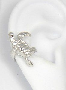 Amazon.com: Sterling Silver Turtle Ear Cuff Right Earrring: Sandra Callistra: Jewelry