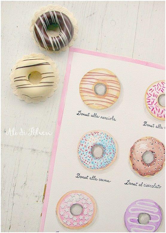 Ali di polvere: I donuts allegri e colorati