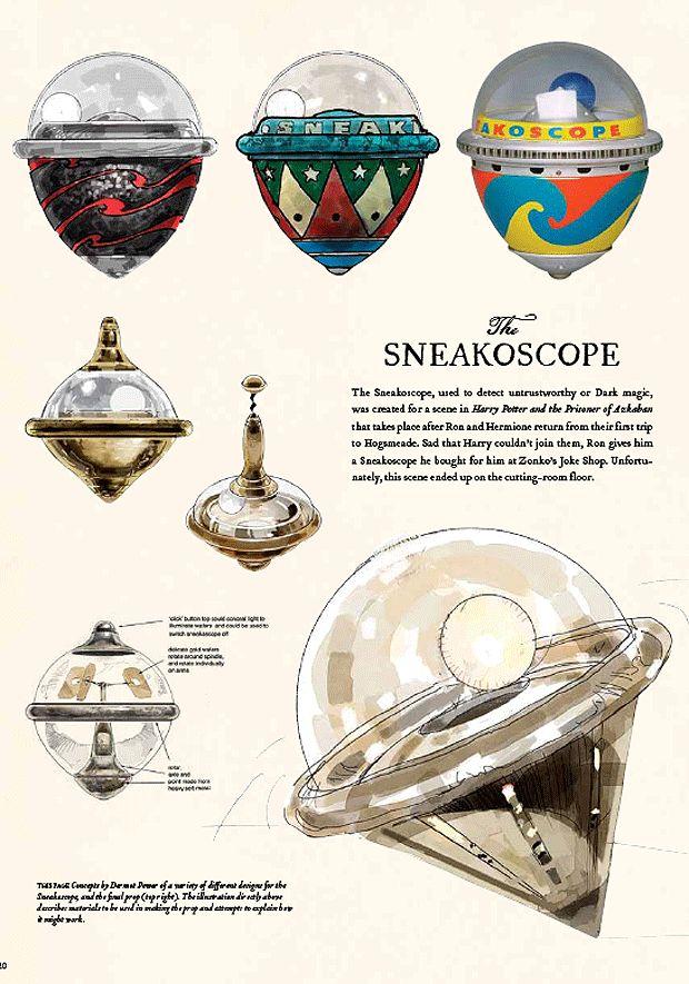 .Sneakoscop Descriptive, Sneakoscop Design, Hogwarts, Concept Design, Concept Art Harry Potter, Harry'S Potts, Potterhead, Design Schematics, Fandoms Harry